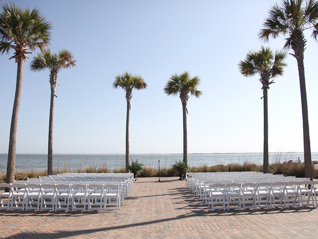 Oceanfront wedding venues Charleston, SC.