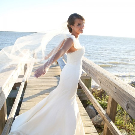 Bride Twirls in Wedding Dress