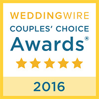 Wedding Wire Couples' Choice Award 2016 Badge