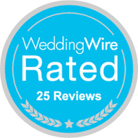 Wedding Wire Rated 25 Reviews Badge