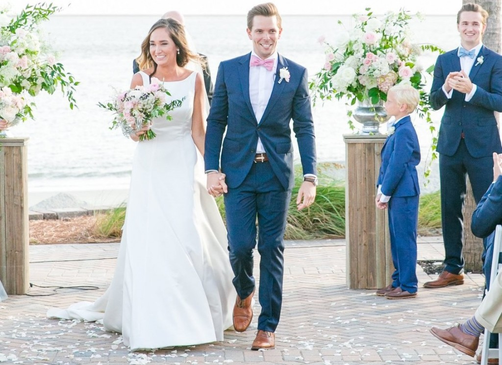 Purple Magnolia Flower Design works with couple for their Seabrook Island Weddings ceremony