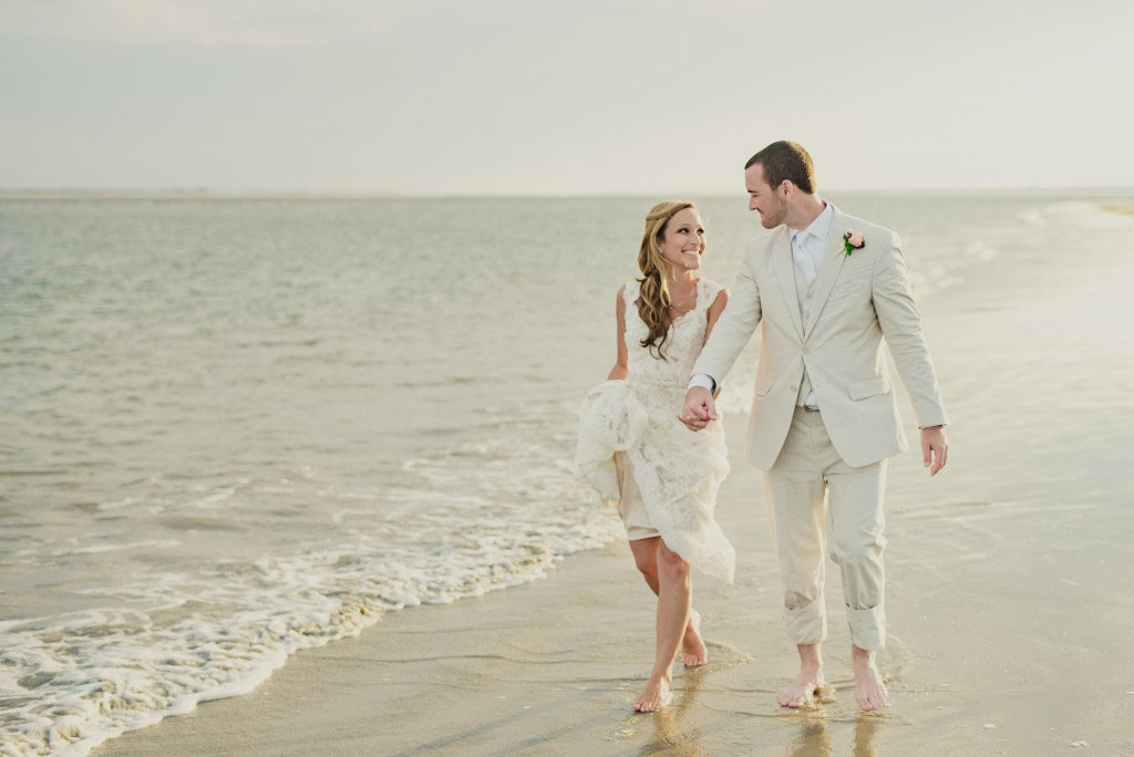 Colleen and Dan oceanfront wedding in south carolina at seabrook island club