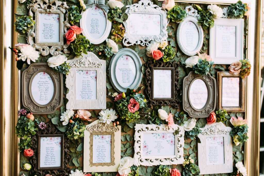 wedding reception memory wall - seabrook island wedding venue