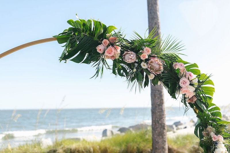 floral display charleston destination wedding